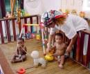 Circulo Infantil.(foto Jorge Luis González) 9-4-01 circulo4.Saltarines del 2000. Ciri0034